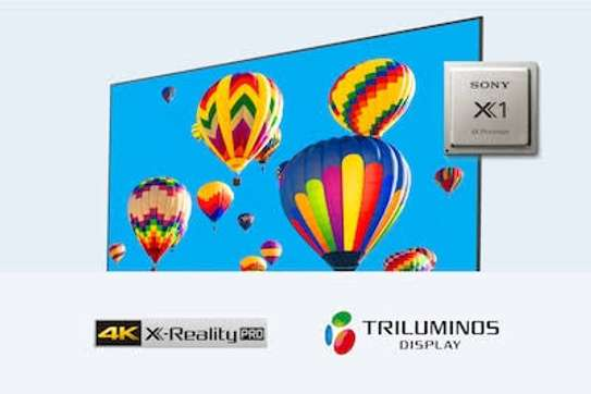"""Sony TVs 55"""" Kd-55x9000h smart Android frameless bluetooth image 1"""