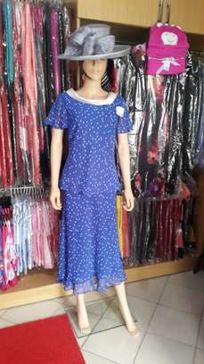 Royal Blue Spotted Dress image 2
