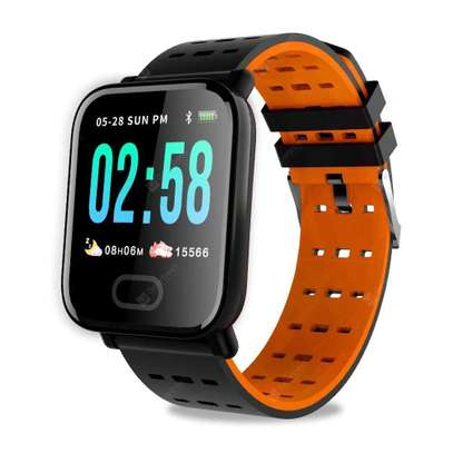 A6 Smart Watches Large Color Screen Fitness Tracker Watch Step Counter Activity Monitor Men Smartwatch For IOS Android image 1