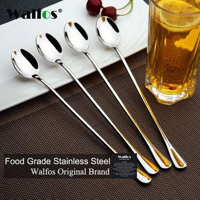 LONG STEM STAINLESS STEEL SPOONS