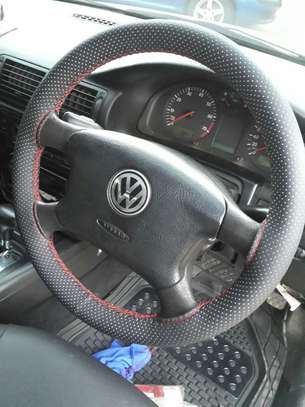 Hand stitched steering wheel cover - non leather image 6