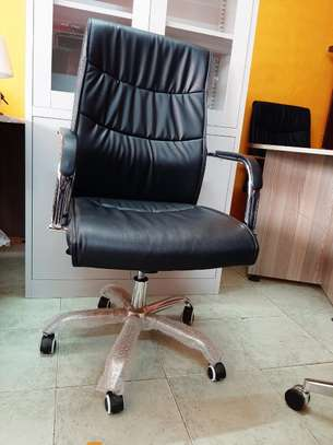 High Back Leather Seat