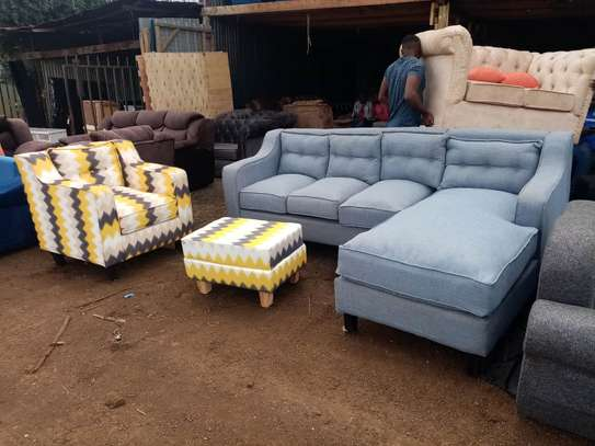 6seater Lshape +1seater+puff image 1