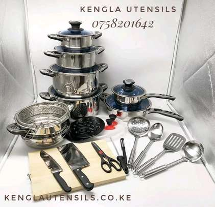 STAINLESS STEEL HEAVY COOKWARE SET image 1