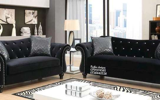 Seven seater sofas/three seater sofa/ two seater sofa/one seater sofa/modern sofas/black chesterfield sofas image 3