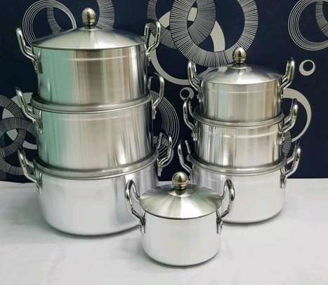 7pcs STAINLESS COOKWARE image 1