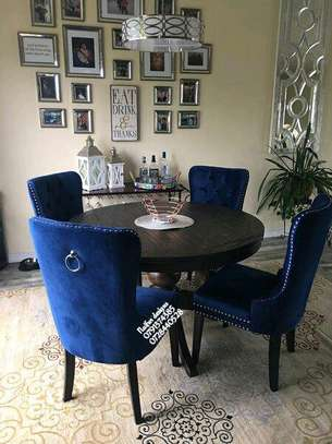Four seater sofas/round tables dining set image 1