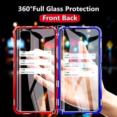 Magnetic Double-sided 360 Full Protection Glass Case for Samsung A71  A51 image 1