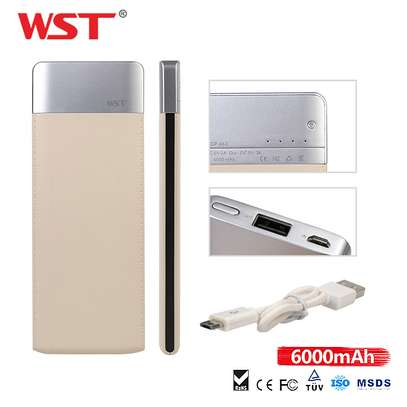 WST Power Bank Ultra Slim 6000mah image 4
