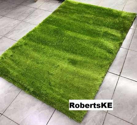 Turkish soft green carpet image 1