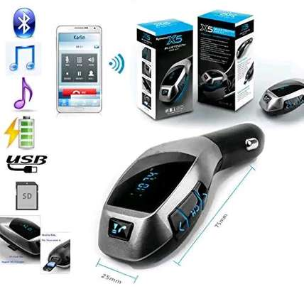 X5 Charger Wireless Bluetooth Car Kit Handsfree MP3 Player FM Transmitter Support TF Card