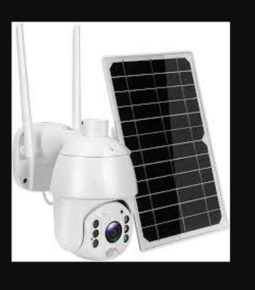 WIFI ptz solar camera 1080p outdooor camera WITH (MOTION SENSOR). image 1