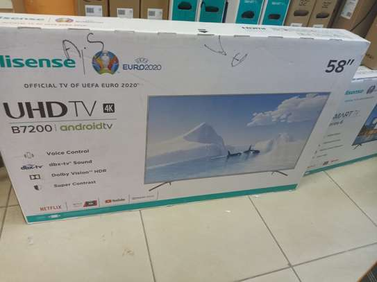 "Hisense 58 "" smart android 4k tv image 1"