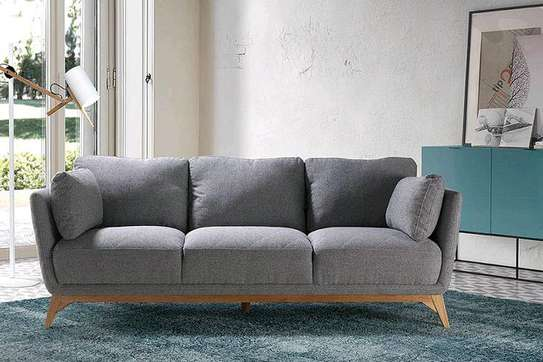 Three seater wooden grey sofas for sale in Nairobi Kenya/Latest sofa set/Modern sofa kenya image 1