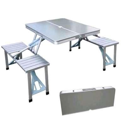 ALUMINIUM PICNIC TABLE * foldable image 4