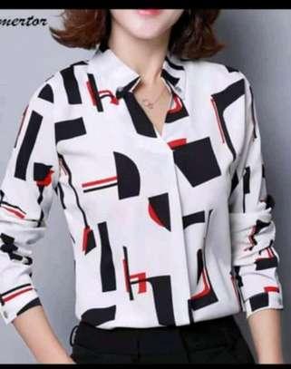 Ladies fancy chiffon blouses image 3