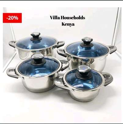 25pcs Harraz Interior stainless steel Cookware set image 3