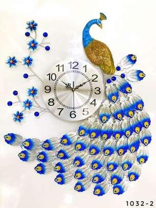 Peacock Flower wall clock image 1