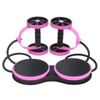 Abdominal Multi-functional Exercise Fitness AB Roller Wheel for Abdominal Fitness & Twist Weight image 2