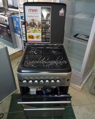 Mika Standing Cooker, 50cm X 55cm, 4GB, Electric Oven, Silver