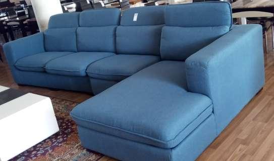 L- shaped fabric  sofa set image 1