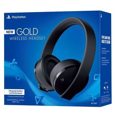 Sony PlayStation Gold Wireless Headset (CUHYA-0080) - Black image 1
