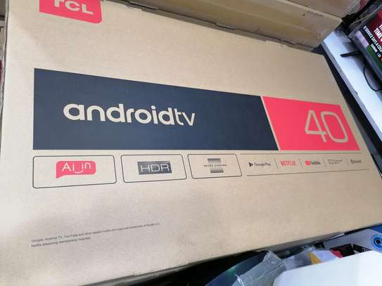 Brand new 40 inch tcl smart android led TV image 1