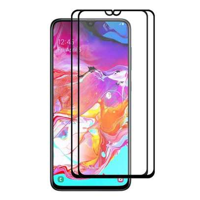 Samsung Galaxy A70 Glue Full Screen Tempered Gl Protective Film transparent image 1