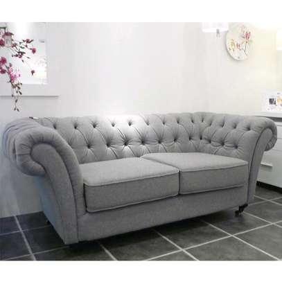 Light grey three seater chesterfield sofas/Modern sofas for sale in Nairobi Kenya image 1