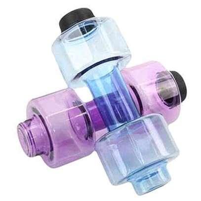 Dumbbell shaped water bottle image 1