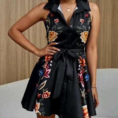 Buttoned Floral Dress image 1