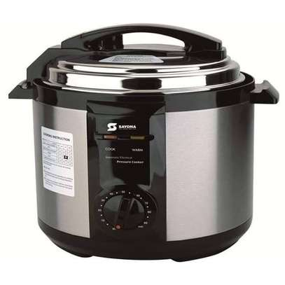 Sayona Metallic Electric Pressure Rice Cooker-6L(SPC100) stainless steel