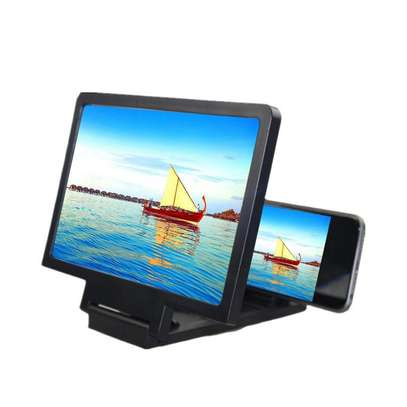 12'' 3D Curve Screen Magnifier for Cell Phone, HD Amplifier Projector Magnifing Screen Enlarger for Movies, Videos, and Gaming with Foldable Stand Compatible with All Smartphones image 1