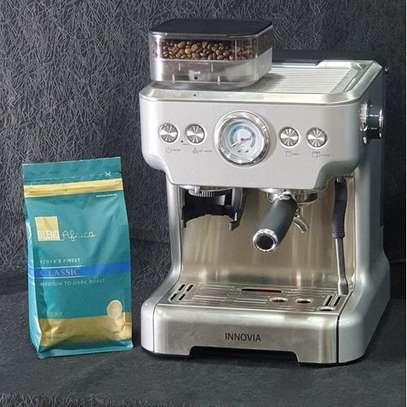 Espresso Machine & Grinder With Back Water Tank image 1