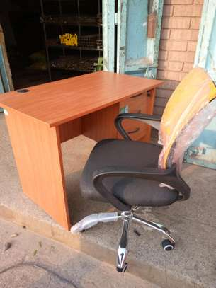 Office desk 1mtr + chair on sale image 2