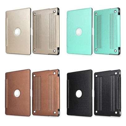 Macbook case cover Siamese PU silk grain 11.6 12 13.3 inch Air Retina Pro image 2