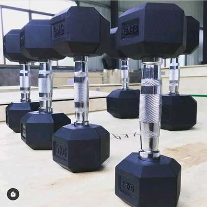 A pair of 15 kg Dumbbell on offer image 1
