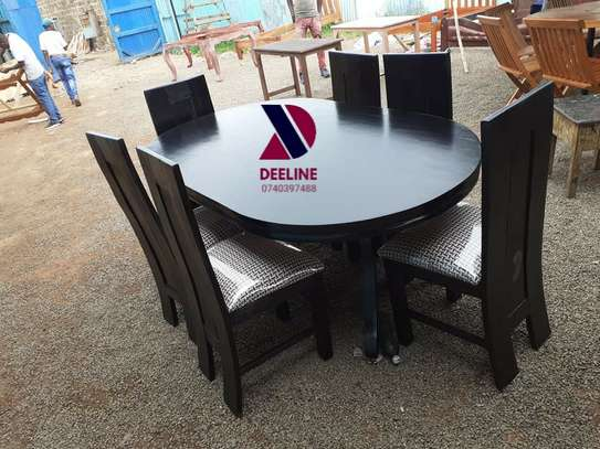 Oval 6 Seater Dining Table Set (401) image 1
