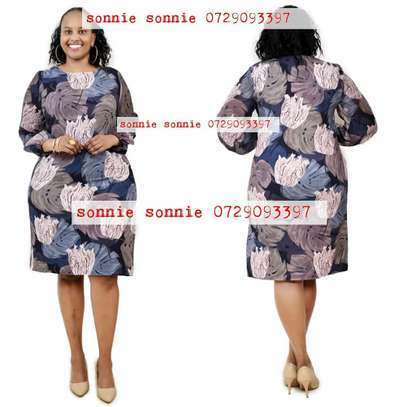 Classy print shift dress from Turkey image 1