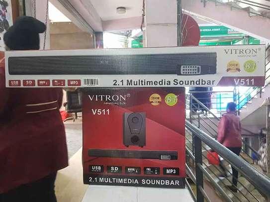 Vitron V511 2.1 Channel Multimedia Sound Bar Speaker System image 1