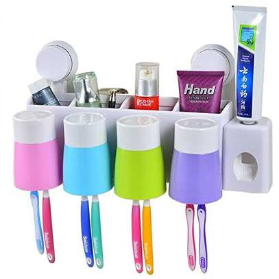 TOOTHPASTE AUTOMATIC DISPENSER WITH 4 CUPS