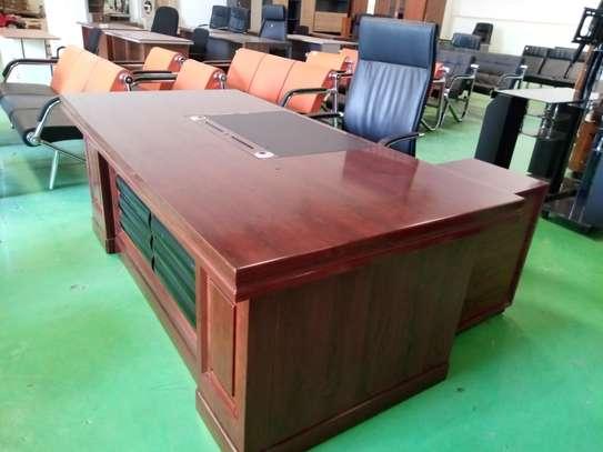 Executive office desk 2.2metres wooden image 1