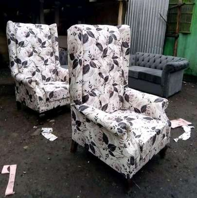 Beautiful Contemporary Quality Wingback Chairs image 1