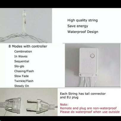 Fairy string lights multicoloured 100 LED'S 10 meter and E.U to U.K adapter plug image 3