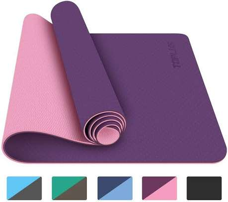 Double sided yoga/exercise mat image 1