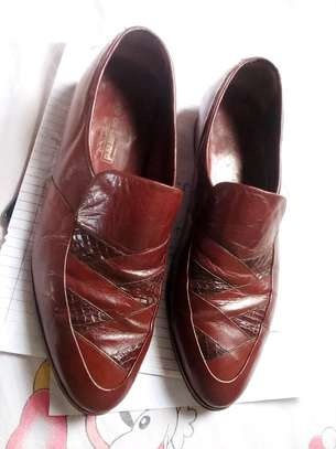 Genuine brown leather official shoes image 1