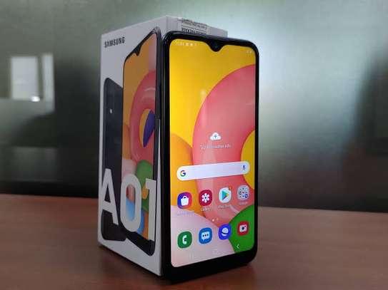 Samsung Galaxy A01, 5.7-inch, 16GB + 2GB RAM (Dual SIM), 13MP + 2MP Dual Camera, Black image 2