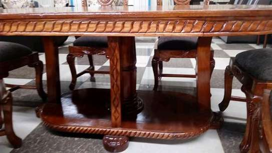 Solid mahogany dining tables(6 seaters) image 3