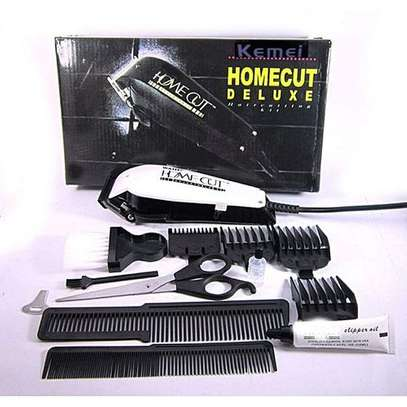KM-8824 - Professional Electric Hair Clipper Hair Shaver - White & Black image 1