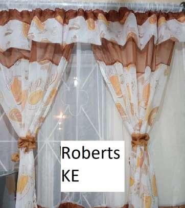 Brown kitchen curtains